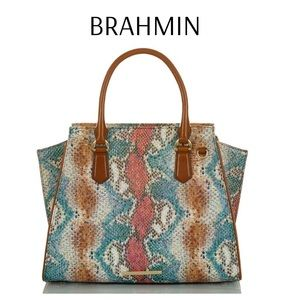Brahmin Priscilla Satchel Multi Dawson